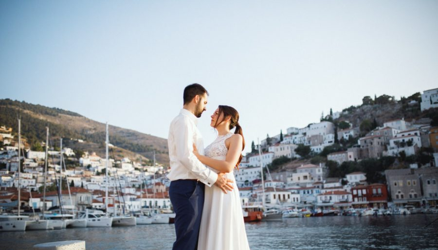 CHRONIS & ELECTRA WEDDING IN ATHENS AND HYDRA